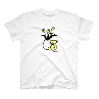 くまとチューリップ T-shirts