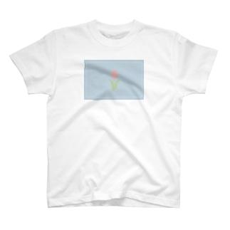チューリップ Tシャツ (くすみ色) T-shirts