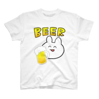 うさぎBEER T-shirts