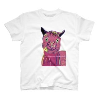 アルパカからのメッセージ T-shirts
