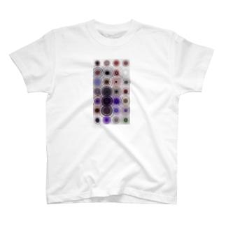 カラフル目玉模様 T-shirts