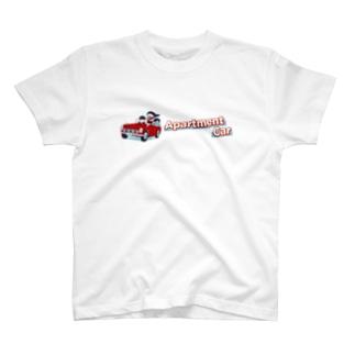 Apartment CarのアパカーのロゴTシャツ T-shirts