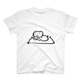 番猫クロクロ 座布団 T-Shirt