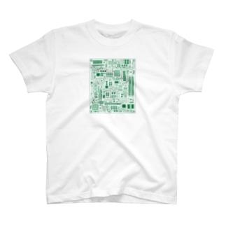 基盤柄 T-shirts
