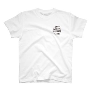 アンチソーシャルディスタンスクラブ 黒 T-shirts
