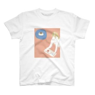ドッグフードで頭がいっぱい T-shirts