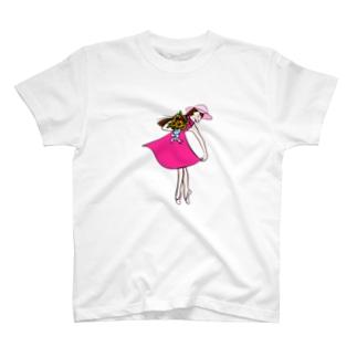 バレリーナ ピンク T-shirts