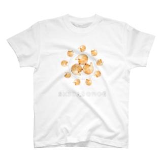 柴巴(しばどもえ) ぽんぽろぽん 文字入り T-shirts