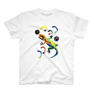 トカゲ T-shirts
