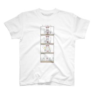4こまTシャツ 【プラチナ】 T-shirts