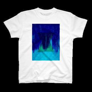 Яаgiйу®(黒髪猫系男子)のトライアングル2 青ver T-shirts