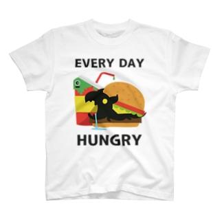 鹿目悠乃 / ゆののTARO - Hungry キャラクターTシャツ T-shirts