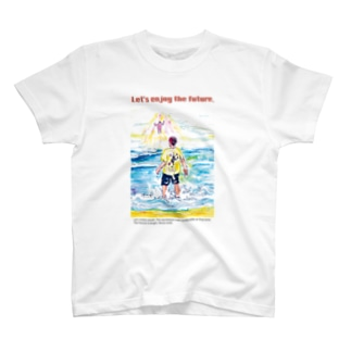 [Let's enjoy the future ]Tシャツ<front printing> T-shirts