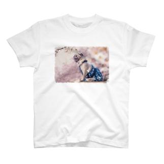 SAKURAパグ T-shirts