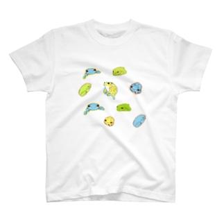 みんなネテルもりあおがえる T-shirts