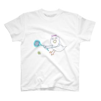 ちくちくびのテニスのチキン様 T-Shirt