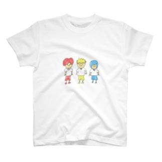 赤青黄の3人組 T-shirts