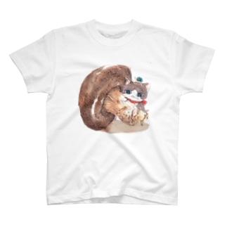 手乗り猫ときのこ T-shirts