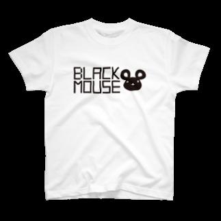 よろづじっけんやのBLACK MOUSE  T-shirts