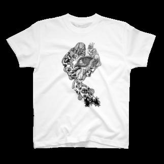 ♞ knight of rebirth ♞の仮【歪んだ顔】 T-shirts