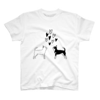 スムースチワワ シンプルハート T-shirts