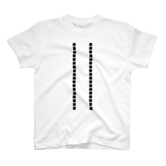 シンプルライン黒Tシャツ T-shirts
