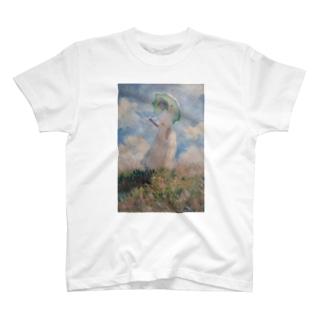 public domainの散歩、日傘をさす女性 / クロード・モネ T-shirts