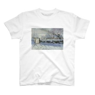 public domainのカササギ / クロード・モネ T-shirts
