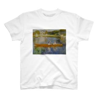 public domainのアニエールのセーヌ川(船遊び) / ピエール=オーギュスト・ルノワール T-shirts