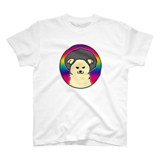 アフロ雑種犬 T-shirts