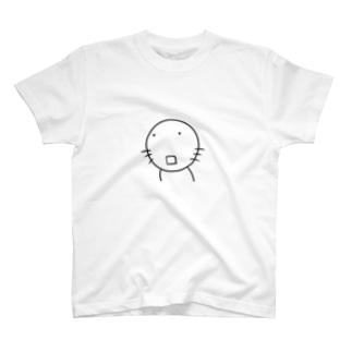 ねこもぐら ポカーン T-shirts