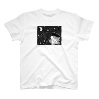 くらやみくん、光をともす T-shirts