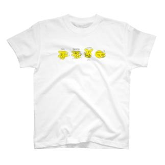 バナナ犬×4 T-shirts