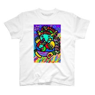竜のモグピー T-shirts