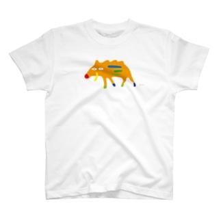 イノシシ (大きめ) T-shirts