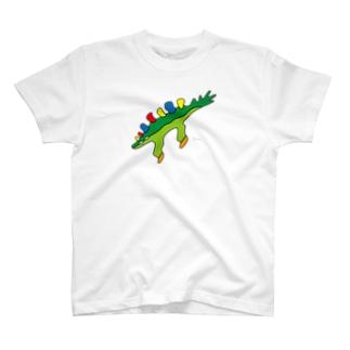 トッキイッパイサウルス (大きめ) T-shirts