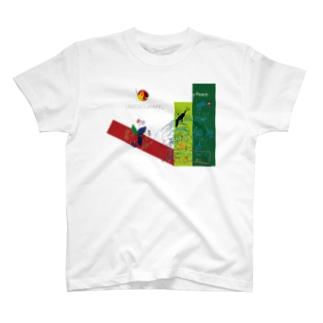 戦争と愛forウガンダ T-shirts
