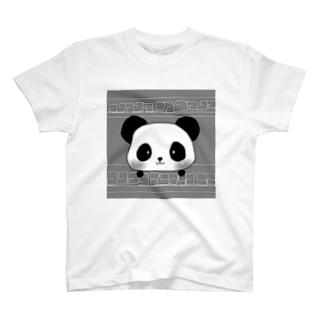 大熊猫(モノクロ) T-shirts