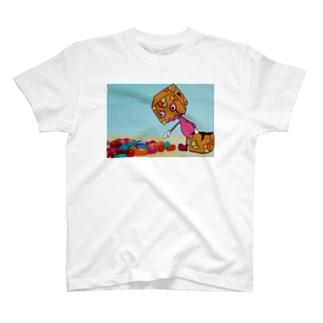 紙袋くんとグミ T-shirts