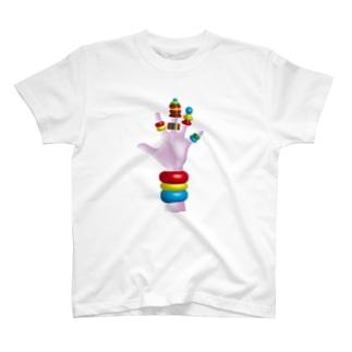 無重力尚靴履(ブロックハンド) T-shirts