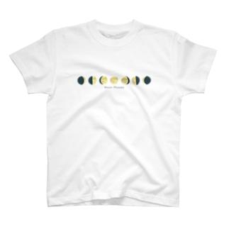 月の満ち欠け T-shirts