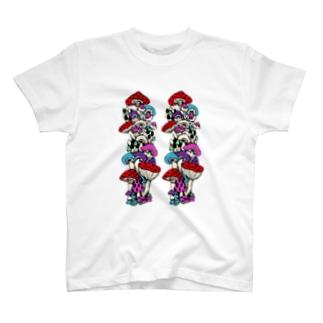 もち粉のきのこ T-shirts