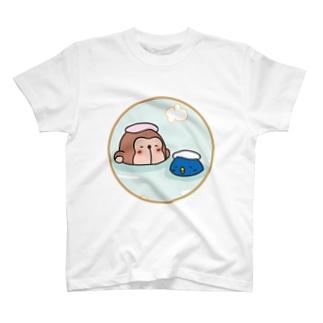 温泉おさるとペンギン T-shirts