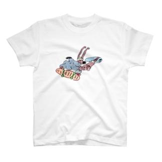 残尿小僧とストリーキングスケーター T-shirts