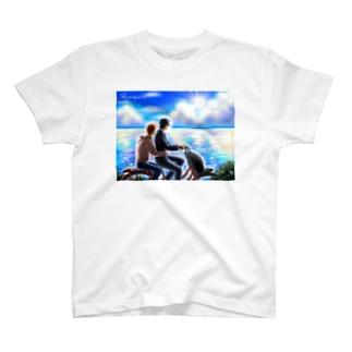 自転車と空と海 T-shirts