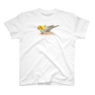 オカメインコ レキ【まめるりはことり】 T-shirts