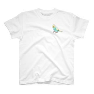 ごきげんセキセイインコ【まめるりはことり】 T-shirts
