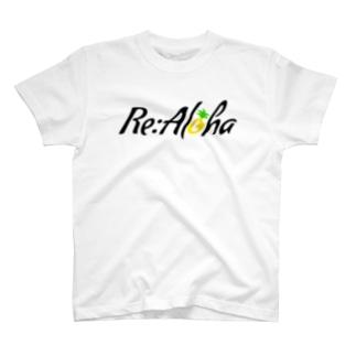 Re:Aloha(黒字ver) T-shirts