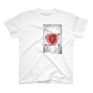 脈拍149 ver.白重 T-shirts