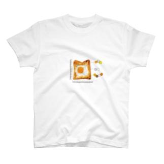 目玉焼きパン material Tシャツ T-shirts